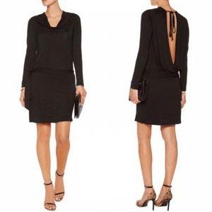 Haute Hippie Backless Black Dress LBD NWT Large